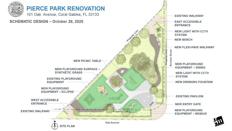 Proposed Pierce Park renovations blueprint.