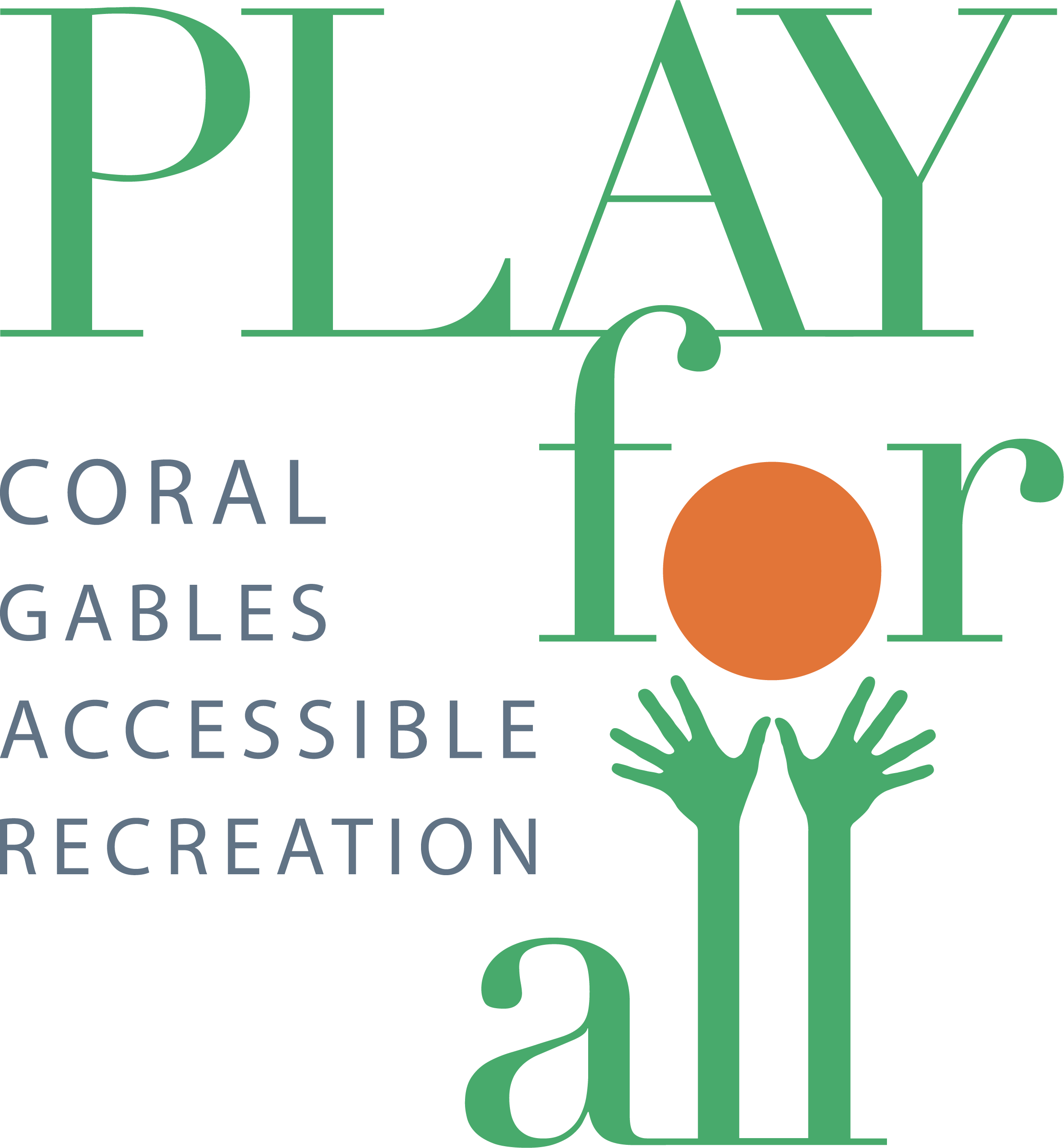 PLAY for All Coral Gables Accessible Recreation Logo.