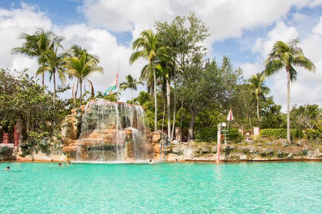 Venetian pool water fall.