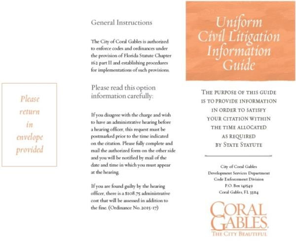 Uniform Civil Litigation Guide