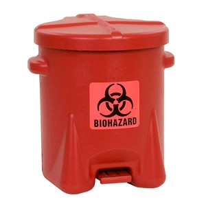 Red Biohazard recepticle