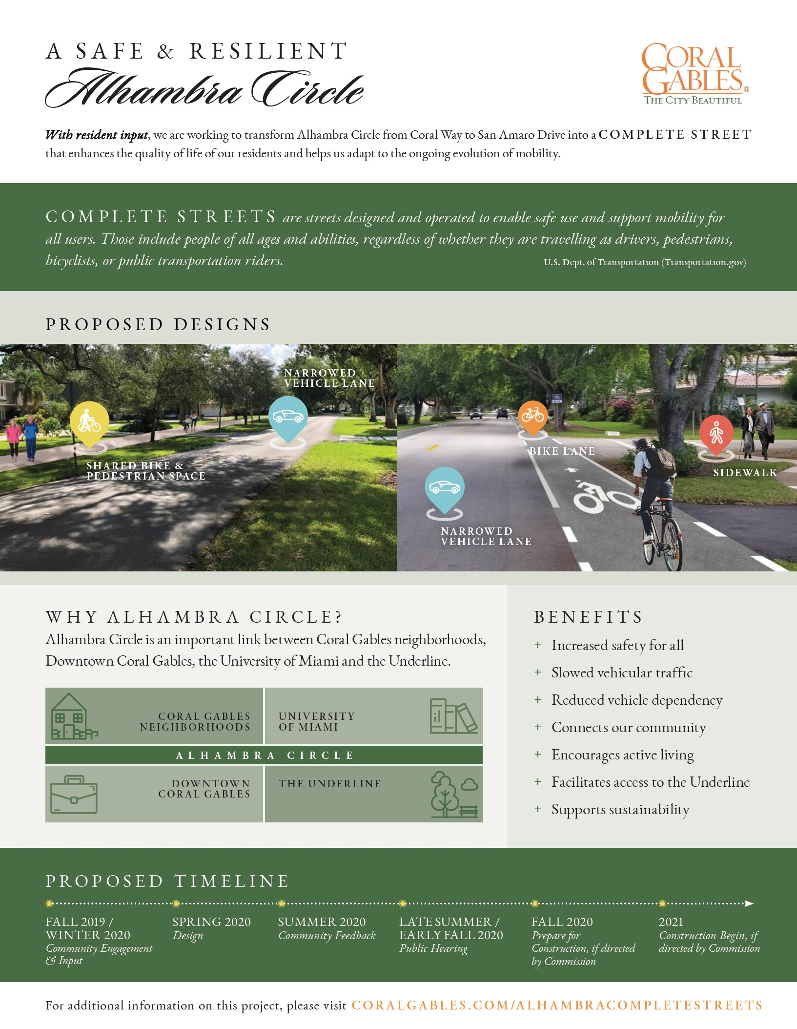 Alhambra Street Parking Christmas 2020 City of Coral Gables   Alhambra Circle Complete Streets Project