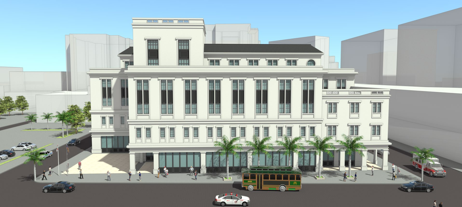Rendering of the Coral Gables Public Safety Building
