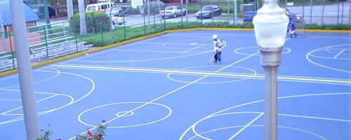 Youth Center outdoor basketball